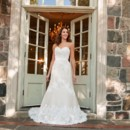 Greta Spun from silk duchess, organza and hand-cut French Alencon lace, Greta embodies romance. This wedding gown's slim, fluted silhouette, finished with a silk duchess belt, sweeps into a sumptuous train.
