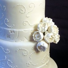 220x220 sq 1310181551520 whiteranunculusflowersweddingcake