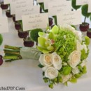 130x130 sq 1386437601609 green hydrangea cymbidium orchid  rose bridal bouq