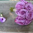 130x130 sq 1426288693799 vintage lavender rose bridal bouquet grooms bouton