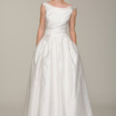 Audrey Vintage inspired off-shoulder ball gown. Made in USA.