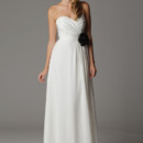 Eve Gathered strapless sweetheart wedding dress with built in waistband. Made in USA.