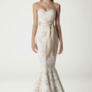 Jessica Sweetheart neckline strapless gown with constructed corset top and trumpet skirt.Made in USA.