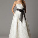 Sofia Strapless wedding dress with built-in waistband. Made in USA.