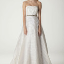 "Vivien Strapless ""Origami"" wedding dress with Full skirt, shown here in our pleated organza. Made in USA."