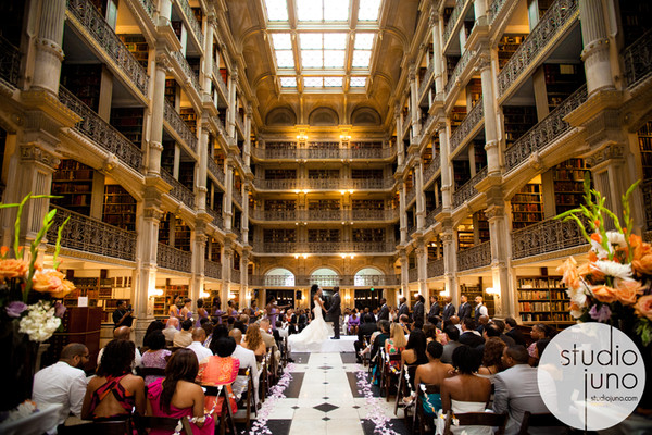 George Peabody Library Baltimore Md Wedding Venue