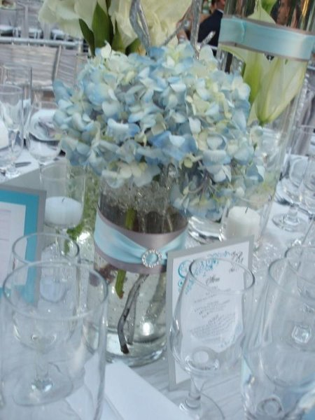 Blue and white wedding flowers centerpieces pixshark