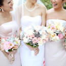 130x130 sq 1414428833386 bride with bridesmaids light pink assorted bouquet