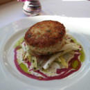 130x130 sq 1368639257537 maine crabcake with wine grapes and endive michaels on the hill