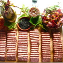 130x130 sq 1368639332261 country pate platter with house pickled vegetables img92992