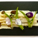 130x130 sq 1368639440656 fried white asparagus w truffle mascarpone  pickled day lilies 2011