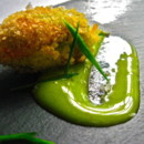 130x130 sq 1396626761733 squash blossom fritter stuffed with foie gras and