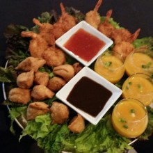 220x220 sq 1451400177881 samosas with tamarind sauce cocoanut shrimp and bu
