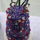 3-tier Wedding Cake, 78 Servings.