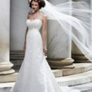 130x130 sq 1443129433055 bridalgown.lace.casablanca.aline