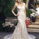 130x130 sq 1443129538187 fitandflare.casablanca.bridal.gown.lace