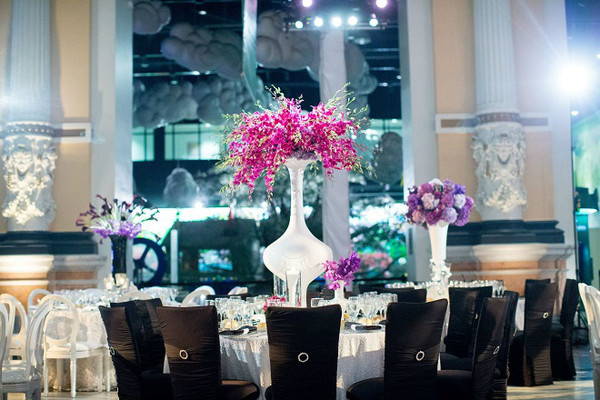 600x600 1467914157860 black chameleon chairs for weddings purple orchids