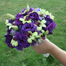220x220 sq 1288993830523 purpleandgreenbouquet