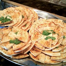 220x220 sq 1490998034408 ww warmed spiced pita and traditional hummus
