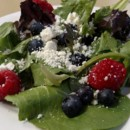 130x130 sq 1444075423647 field green salad with mixed berries and feta chee