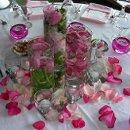 130x130 sq 1233934741316 pink petals centerpiece