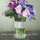 130x130 sq 1380812213347 purpleorchidsrosesirisstockwithcrystalcollarinvase
