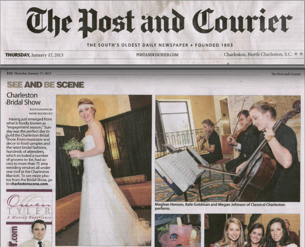 Post and courier wedding