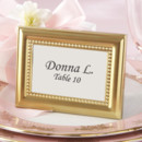 130x130 sq 1445009830028 beautifully beaded gold photo frame place card hol