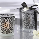130x130 sq 1445009889464 damask traditions black white frosted glass tea li