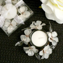 130x130 sq 1445009895575 elegant frosted white glass flowers candle holder