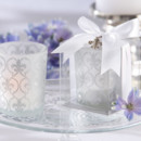 130x130 sq 1445009933301 fleur de lis frosted glass tea light holder favors