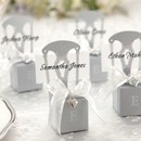 130x130 sq 1445010023455 monogrammable mini silver chair favor box with hea