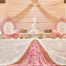 220x220 sq 1428445468332 full cake table and backdrop