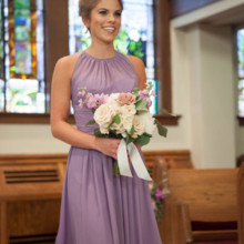 220x220 sq 1478809453403 lavender bridesmaid dress and bouquet