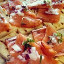 130x130 sq 1487786609688 norwegian smoked salmon crostini with capered crea