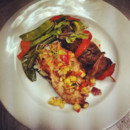 130x130 sq 1487786643533 grilled chicken with tropical salsa teriyaki beef