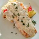 130x130 sq 1487786657540 grilled salmon w dijon cream garlic mashed potatoe