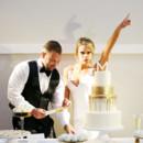 130x130 sq 1473829566203 82 gold  white wedding cake
