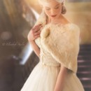 130x130 sq 1480364708612 50s wedding dress  fur cape