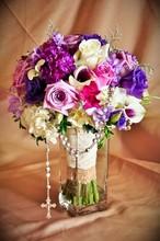220x220 1391554599555 purple roseary bouque