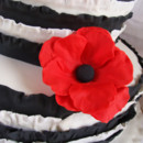 130x130 sq 1388795789697 black and white ruffle poppy cake closeu