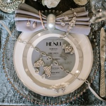 220x220 sq 1454340661936 silver bling placesetting