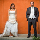 130x130 sq 1466102553571 bride groom portrait orange wall 2