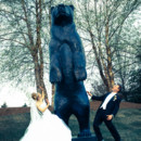 130x130 sq 1375200255428 black bear bride  groom 1