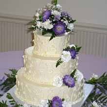 220x220 sq 1237336326946 2008092011h24m30sallyweddingcakea