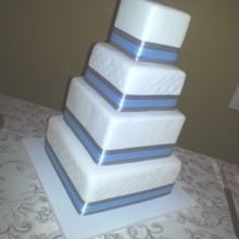 220x220 sq 1485909434133 gray blue wedding cake