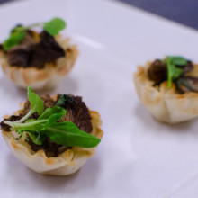 220x220 sq 1429045224094 mushroom canapes with micro basil 1 of 1