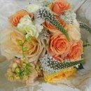 130x130 sq 1279148255993 peachwildflowerbridesmaidbouquet