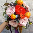 130x130 sq 1395846332260 dahlia and dusty lavender bouquet lr