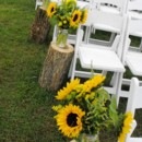 130x130 sq 1395849173861 ceremony mason jar sunflowers with logs lr